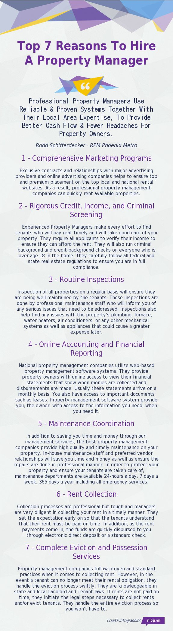 Top 7 Reasons To Hire A Property Management Company - http://www.rpmphoenixmetro.com - Experienced Property Management Professionals