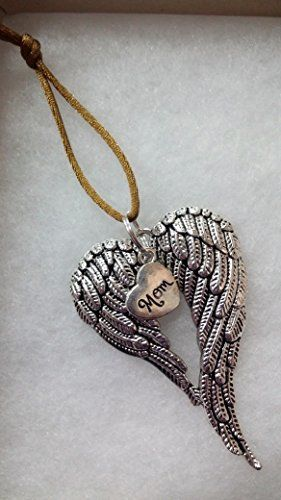 Mom Memorial Angel Wings Christmas Ornament In Memory Sympathy Bereavement Keepsake Gift * You can get additional details at the image link.-It is an affiliate link to Amazon.
