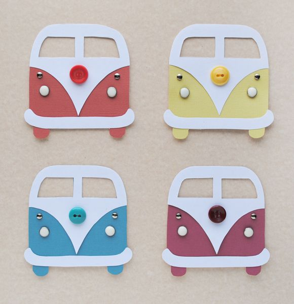 DIY VW Bus Card - cute invite idea for a casual / hippie wedding