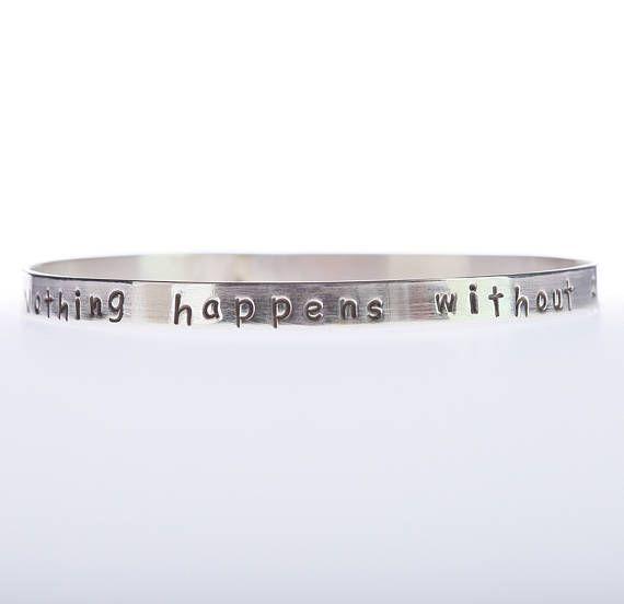 Motivational Bangle Bracelet Sterling Silver Bracelet