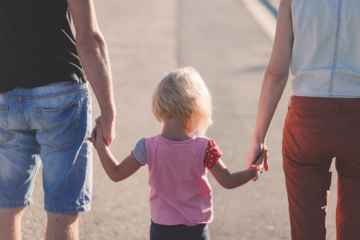 애정, 비치, 어린이, 가족, 소녀, 아이, 사랑, 야외 활동