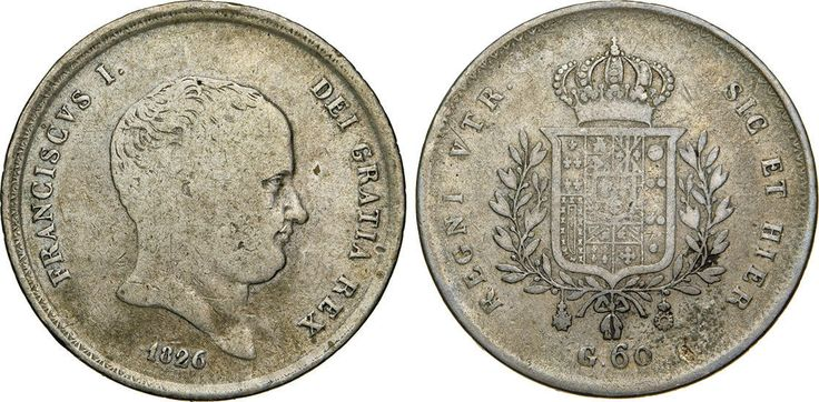 NumisBids: Numismatica Varesi s.a.s. Auction 65, Lot 506 : NAPOLI - FRANCESCO I (1825-1830) 60 Grana o Mezza Piastra 1826. ...