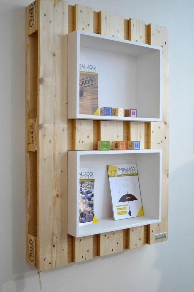 kreatives wandregal aus europaletten selber bauen selbermachen servittentechnik pinterest. Black Bedroom Furniture Sets. Home Design Ideas