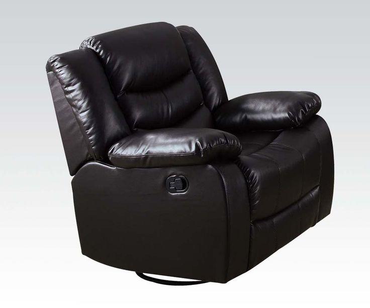 Torrance Espresso Bonded Leather Rocker Recliner Chair 50577