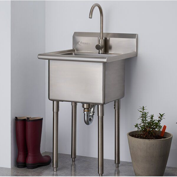 21 5 X 24 Freestanding Laundry Sink With Faucet Utility Sink
