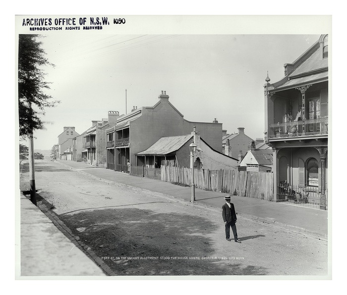 Fort Street, The Rocks by State Records NSW, via Flickr. History Sydney NSW