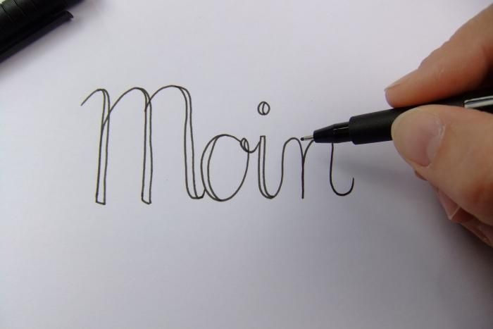 Hand lettering lernen – Anleitung VBS Hobby – Bi Kni