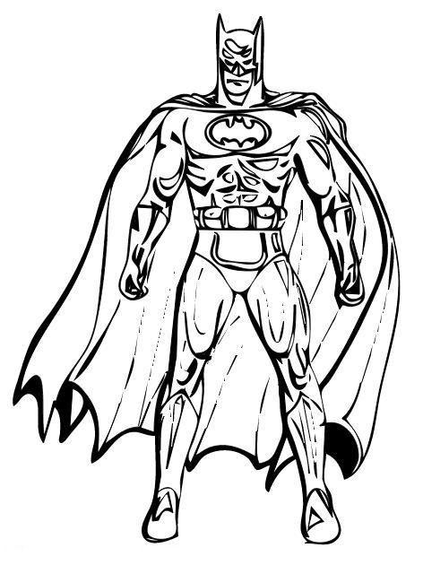 Batman Coloring Page Coloring Pages Pinterest