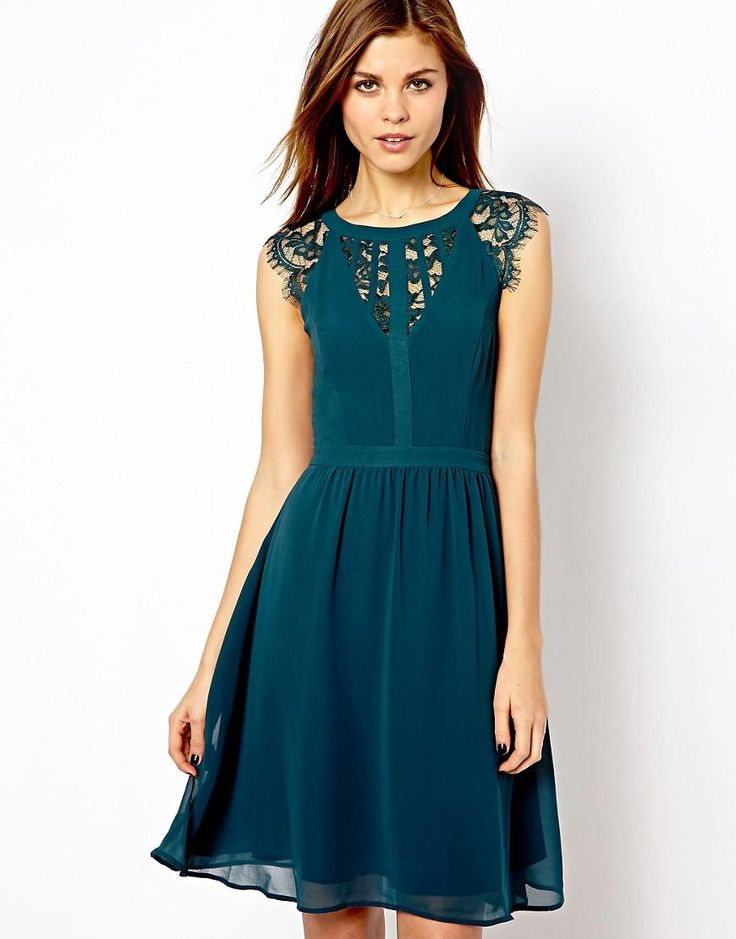 I LOVE this dress so much, but the back is all lace---which looks beautiful, but bra issues. Maybe something similar?
