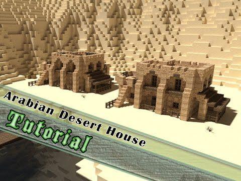 Minecraft Tutorial: Small Arabian Desert House! - YouTube