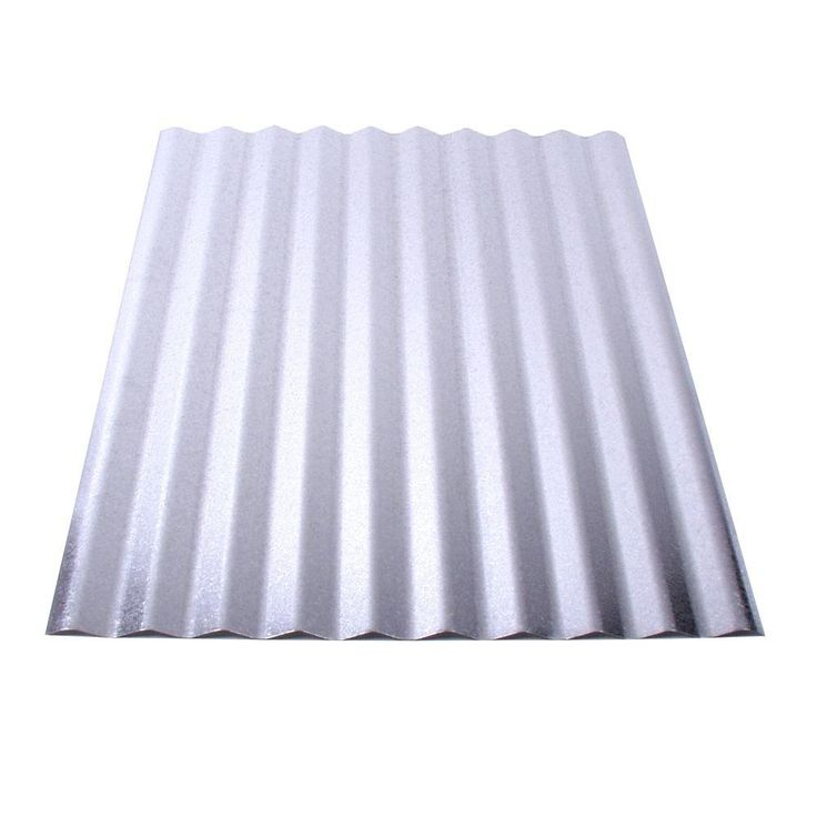 Fabral 8 Ft Galvanized Steel Corrugated Roof Panel 4736051000 The Home Depot Corrugated Metal Roof Panels Steel Roof Panels Corrugated Metal Roof