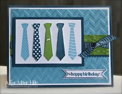 Stampin' Anne: Tic-Tac-Toe Ties for The Paper Players