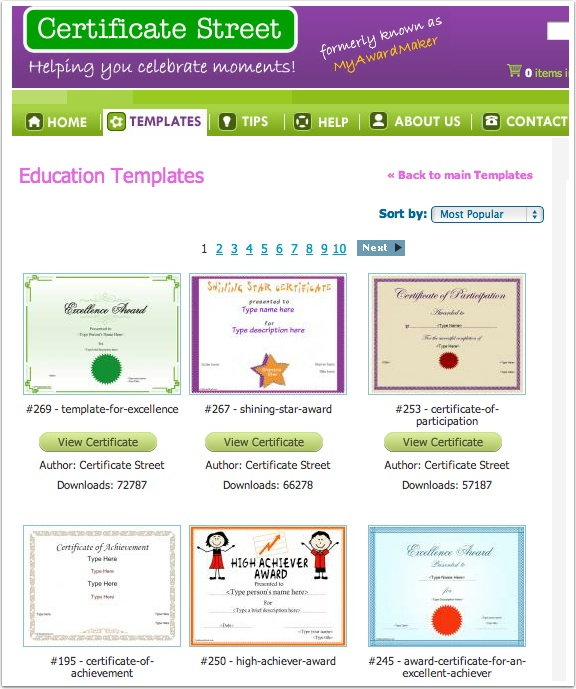 26 best HS- Certificates  Awards images on Pinterest Award - free award certificates