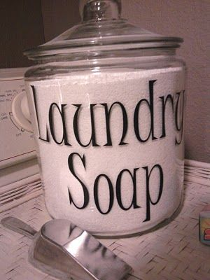 Powdered Laundry Detergent Storage - So much cuter than a box!
