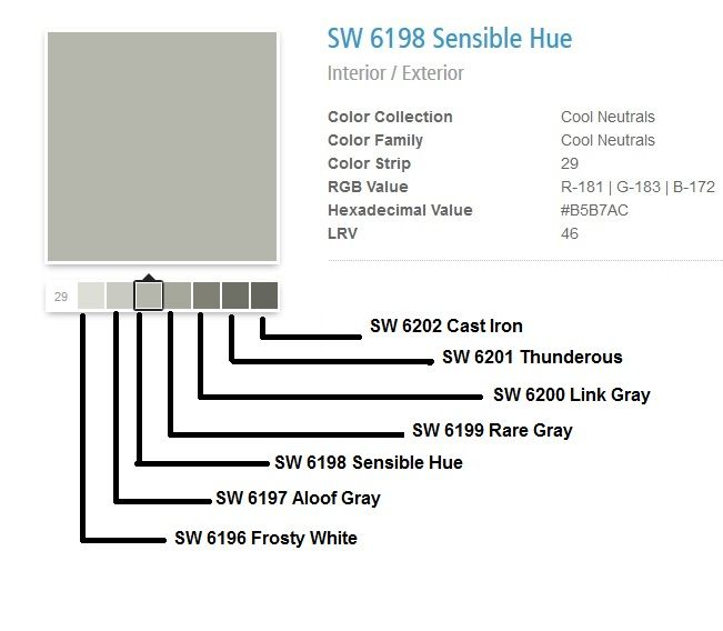 Sherwin Williams Quot Sensible Hue Quot And Surrounding Compatible