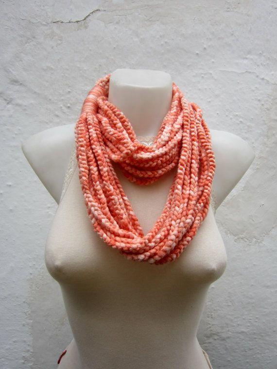 Crochet Scarf infinity    Necklace Colorful  Long  by scarfnurlu
