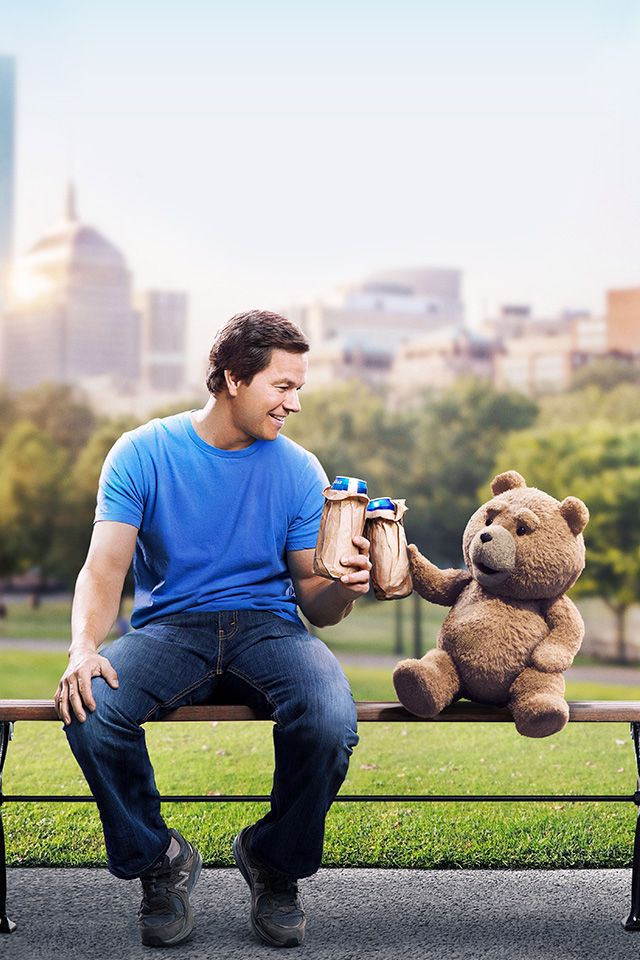 ↑↑TAP AND GET THE FREE APP! Art Creative Movie Cinema Ted Is Coming Bear Beer Fun HD iPhone 4 Wallpaper