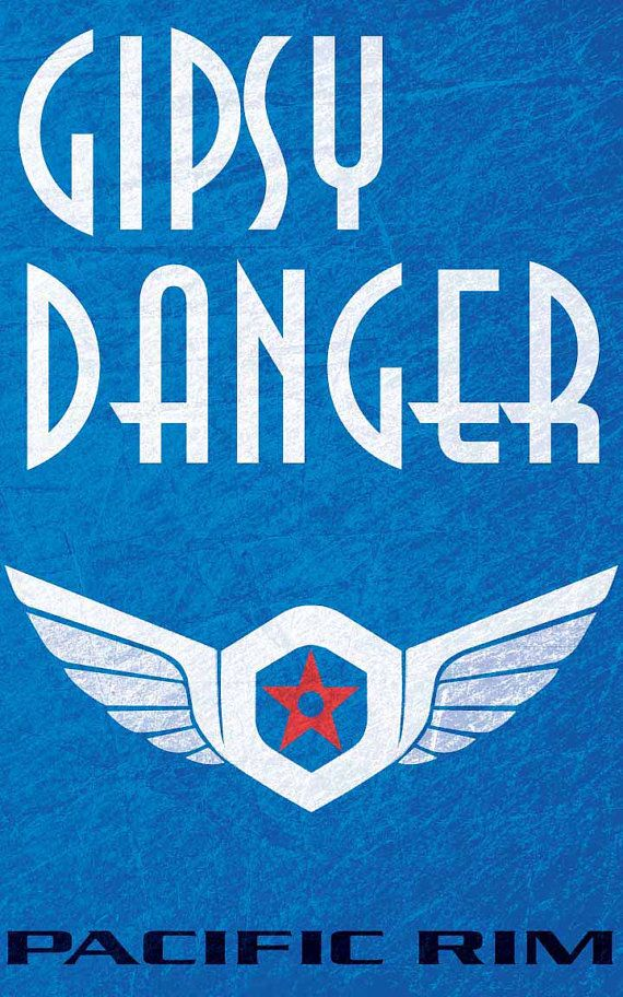 Gipsy Danger Pacific Rim Movie Poster 11 x 17 Print by FADEGrafix, $11.95