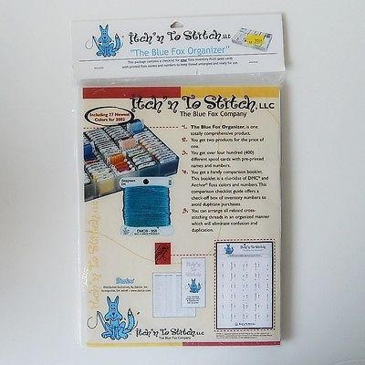 Blue Fox Organizer Itchn To Stitch 400 Pre Printed Spool