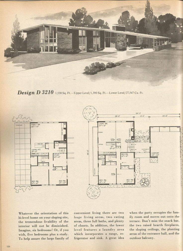 2854 best mid century modern home images on pinterest for Mid century home plans