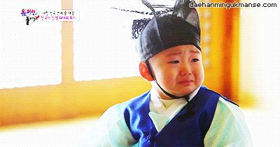 Minguk sobbing after being lectured by the teacher :(( | The Return of Superman