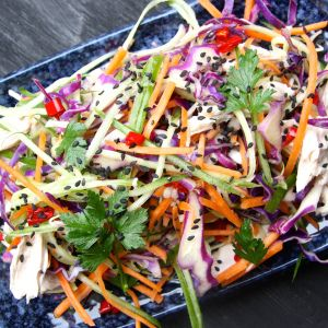 "What's the best way to get kids excited about salad? Get them to ""eat the rainbow"" with this easy peasy summer salad. Vietnamese Slaw - I Quit Sugar"