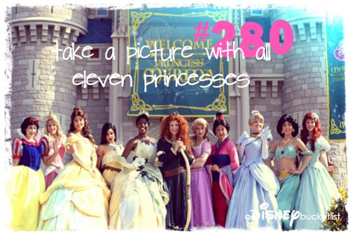 Take a picture with all 11 princesses - deffffffinitely on my bucket list!!