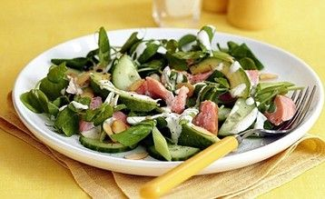 Jo Pratt's Smoked Trout and Pea Top Salad with Horseradish Dressing  http://www.mydish.co.uk/recipe/8428/jo-pratts-smoked-trout-and-pea-top-salad-with-horseradish-dressing  #mydish.