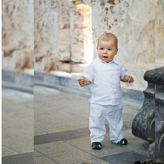 Linen Baptism suit Baptism pantsChristening by ALINABabyClothes #wedding #baptism #christening #etsy