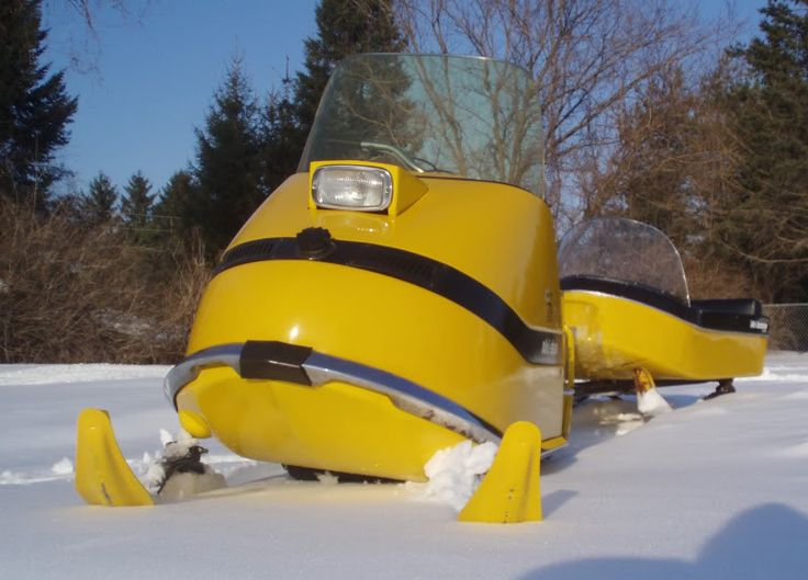 Vintage Ski Doo Snowmobile - this is how I remember them in Alaska