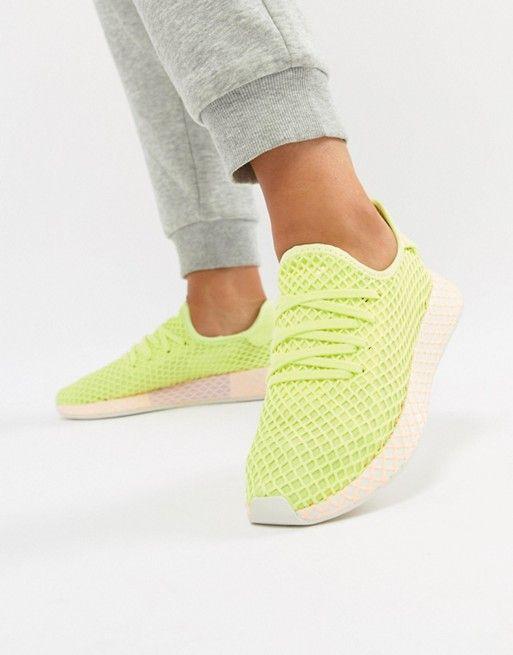 new product bd3d9 30a9e adidas Originals   adidas Originals Deerupt Sneakers In Yellow And Lilac