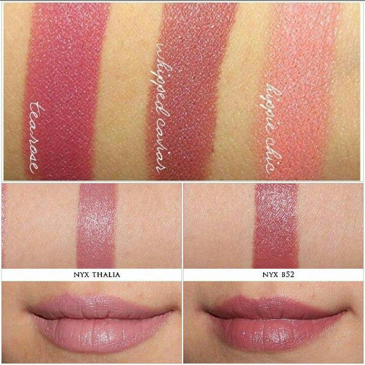 nyx round lipstick thalia amp b52 vs nyx matte lipstick