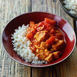Curry z indykiem, kukurydzą i pomidorami | Kwestia Smaku