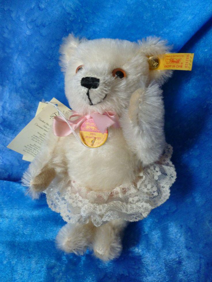 Steiff Vintage Cream Teddy Bear - USA Special Edition 1984 Teddy Bear - Steiff Cream Mohair Teddy Bear - Vintage Lace Tutu Teddy Bear - Bear by Teddyrose54 on Etsy