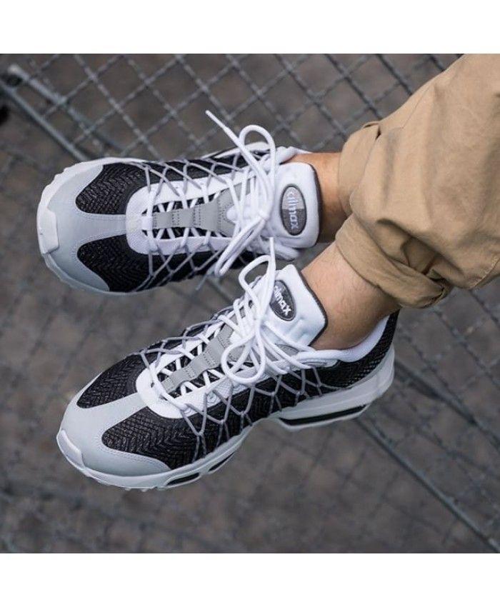 huge discount 0f54b d700e Nike Air Max 95 Ultra Jacquard Blue White Trainers | для коллажей ...