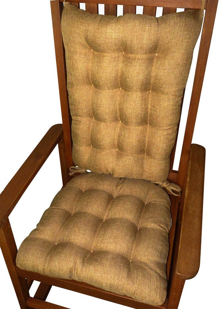 Hayden Honey Rocking Chair Cushions   Latex Foam Fill