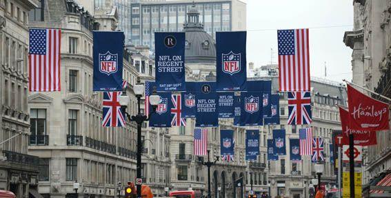 Regent Street NFL Event 28th September 2013 Noon - 6pm Regent Street London