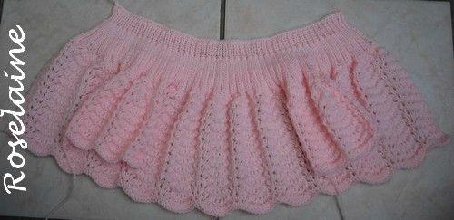 Roselaine tricot brassière point vagues 1