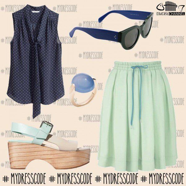 Blouse H&M - Skirt VIVENNE WESTWOOD - Ring POMELLATO - Shoes ZARA - Sunglasses CELINE #womenswear #newcollections #springsummer2014 #ss14 #outfit #fashion #style #trends #outfitideas #outfitoftheday #hm #viviennewestwood #pomellato #zara #celine #celineparis