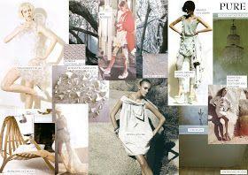 Fashion mood board - purity