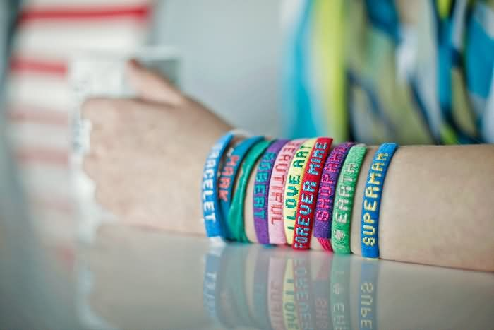Hand Full Of Friendship Day Bands Picture