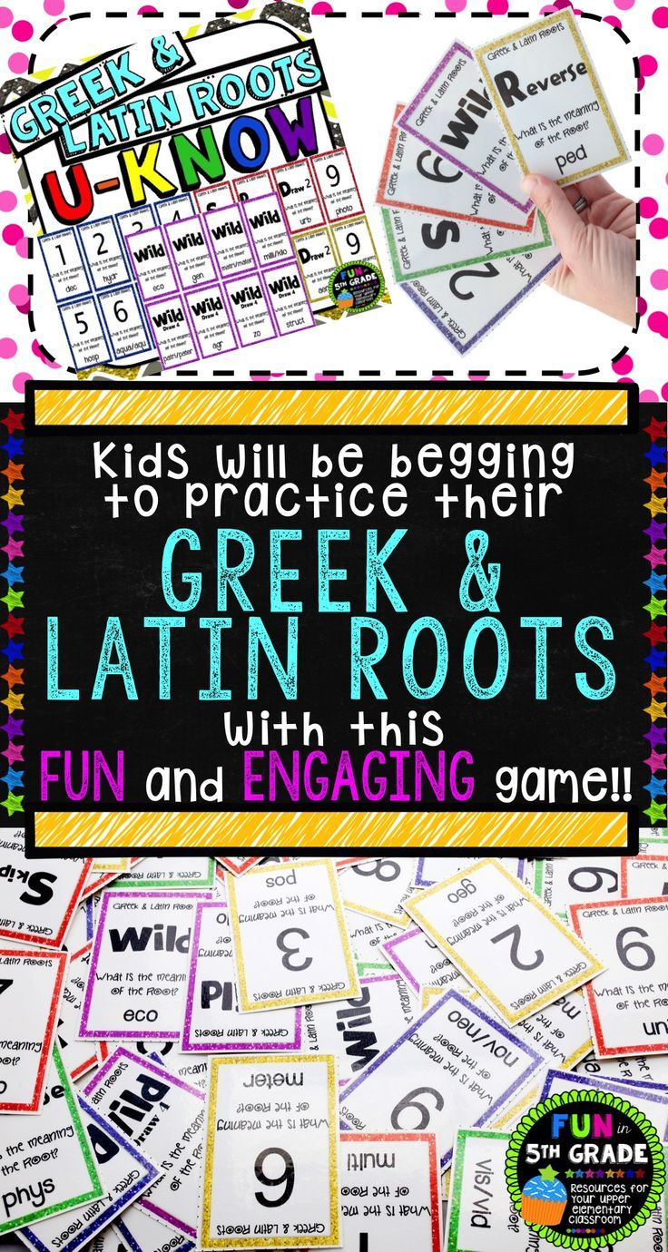 Latin Roots Games 117