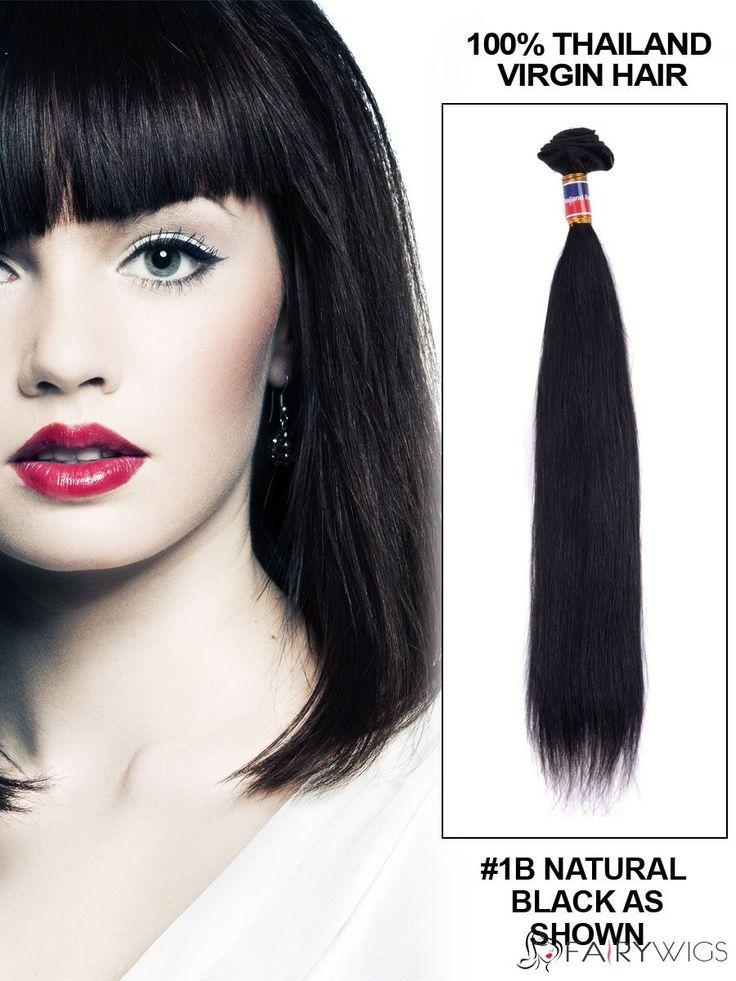 12'-30' Straight Thailand Virgin Hair Extension Weft ...
