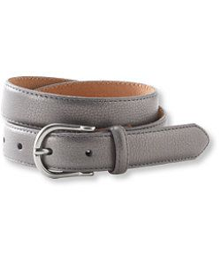llbean s pebbled leather belt in grey 2x things