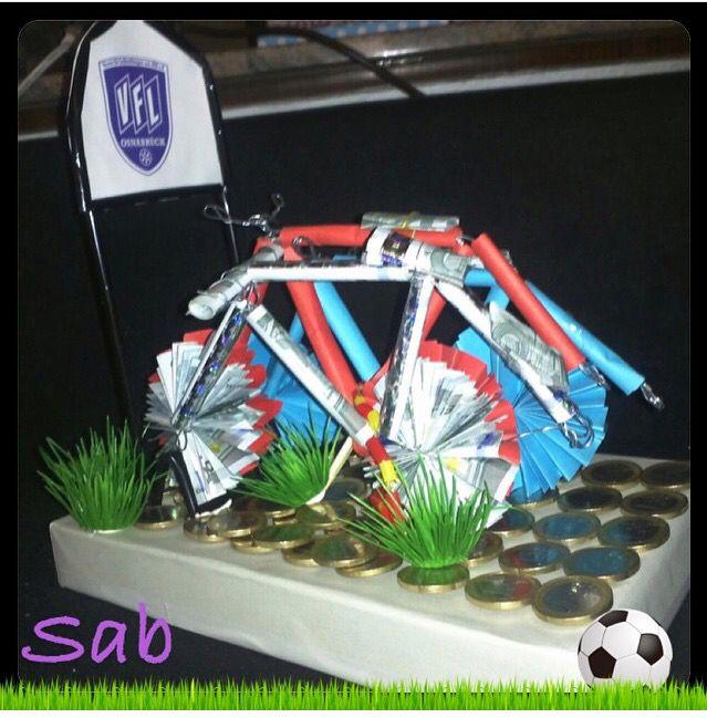 Geldgeschenk - der Beschenkte wünschte sich Geld für ein Fahrrad