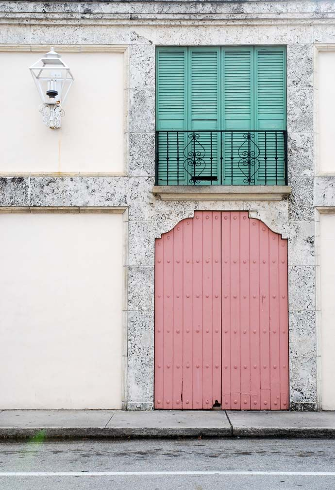 miami pastel doors and stripes #KAH