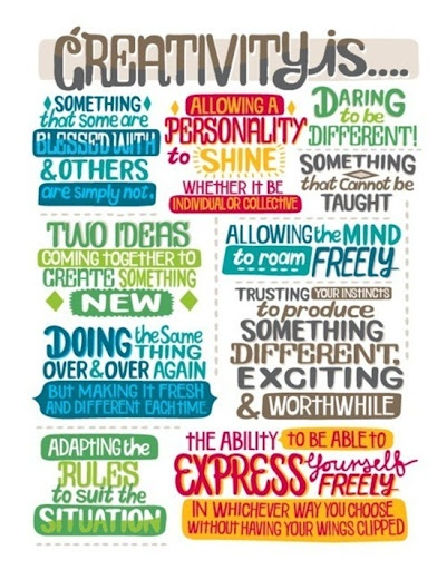creativity is...  Embracing it all, except... the first one.