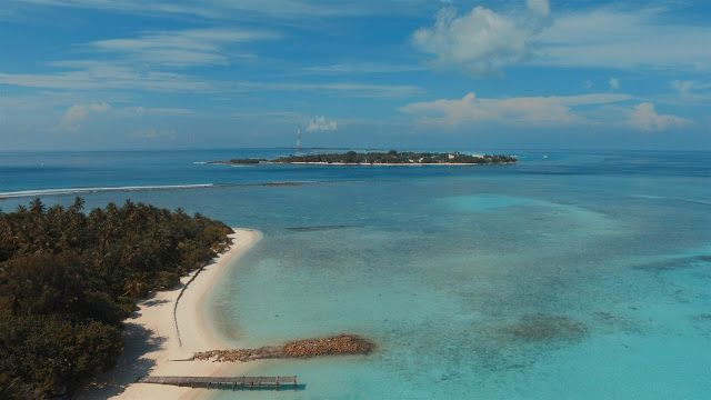 Birds-eye view of Thulusdhoo island from Chicke's island  #Maldives #destinations #paradise #indianocean