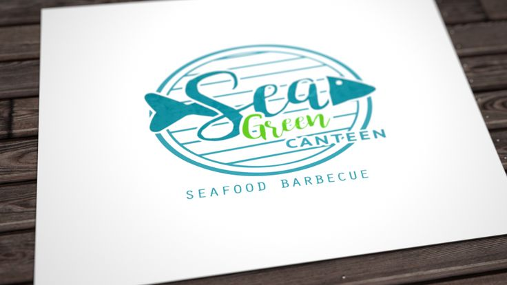 Branding for Sea Green Canteen in Bude, Cornwall