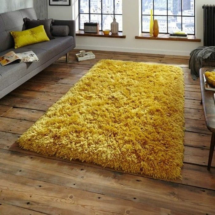 moutarde tapis jaune moutarde